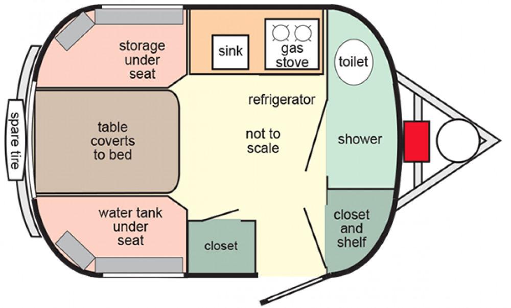 2010 Scamp 13 Front Bath Manistique